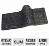 Adesso AKB-220 Compact Flexible Keyboard - Washable, Waterpr -- AKB-220