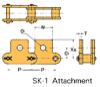Plastic Sleeve Chain Attachment -- CS2042 1L SK-1 -Image