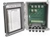 "BNC termination box, 8"" x 6"" x 4"" NEMA 4X (IP66) fiberglass enc, 6 channels, terminal strip input, BNC jack output, 6 PGME07 cord grips -- 691A50_06 -- View Larger Image"