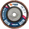 4-1/2 Tiger Angled (Radial) Ceramic Flap Disc 60C 5/8-11 Nut -- 51316 - Image