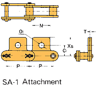 Plastic Sleeve Chain Attachment -- CS2042D 1L SA-1 -Image