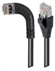 Category 5E Shielded LSZH Right Angle Patch Cable, Straight/Right Angle Left, Black, 3.0 ft -- TRD815SZRA6BLK-3 -Image