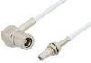 SMB Plug Right Angle to SMB Jack Bulkhead Cable 60 Inch Length Using RG196 Coax -- PE33682-60 -Image