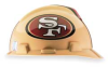 NFL Hard Hat,SanFrancisco 49ers,Gold/Red -- 4VP59