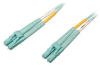 10Gb/100Gb Duplex Multimode 50/125 OM4 LSZH Fiber Patch Cable (LC/LC) - Aqua, 3M (10-ft.) -- N820-03M-OM4 - Image