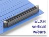 Header Terminal Block -- ELXH Series Mini Header with Locking Ears -- View Larger Image