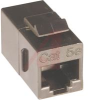 Coupler, In-Line, CAT5e, Black,Unshielded, fits into 0.790 in. opening -- 70088175