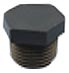 Metric Thread Hex Plug -- HM-38-BK - Image