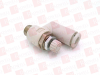 SMC AS2301F-01-06-K ( FITTING, PNEUMATIC, UNIVERSAL, W/ONE TOUCH FITTING, METER-IN, 6 MM TUBE OD, 1/8 INCH NPT, W/HEX NUT ) -Image