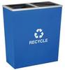 2-Sct Recycle,36 gal,Blu,Slvr Trim,Liner -- 5UJE8 - Image