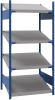 Open shelving with 4 sloped shelves (FIFO) (Standalone unit) -- SRK1F-EH750401 -Image