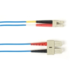 1-m, SC-LC, 50-Micron, Multimode, Plenum, Blue Fiber Optic Cable -- FOCMP50-001M-SCLC-BL