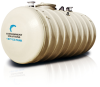 CSI-10 Fiberglass Underground Oil/Water Separator -- 8' Diameter