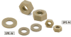 Plastic Screw - Hex Nuts / Washers - PEEK -- SPE-W -Image