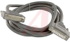 Cable Assembly; Male/Female D-Sub; 25 Position Super Shield; 10 Foot; Chrome -- 70005882 - Image