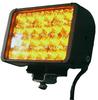 LED Light - Amber (Yellow) - 24 LEDs - 72 Watts - Aluminum Housing - 9-42 Volts DC - 4230 Lumen -- LEDLB-24-AMBR