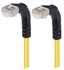 Category 5E Shielded Right Angle Patch Cable, Right Angle Down/Right Angle Down, Yellow 3.0 ft -- TRD815SRA3Y-3 -Image