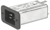 IEC Appliance Inlet C20 with Filter, Front or Rear Side Mounting -- C20F - Image