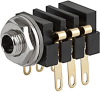 Socket, solder terminal, screened, 3.5 mm, 3-pole, straight, UK-Connector -- 4802.2300 -Image