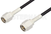 SMA Male to SMA Male Cable 36 Inch Length Using RG174 Coax, LF Solder -- PE3353LF-36 -Image