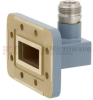 WR-112 to Type N Female Waveguide to Coax Adapter CPR-112G Grooved with 7.05 GHz to 10 GHz H Band in Copper, Paint -- FMWCA1013 - Image