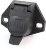 Pollak 11-723E 7-Way Trailer Connector Socket, Heavy Duty Nylon -- 35672 -Image