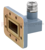 WR-112 to Type N Female Waveguide to Coax Adapter CPR-112G Grooved with 7.05 GHz to 10 GHz H Band in Aluminum, Paint -- FMWCA1045 - Image