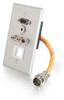 RapidRun® Single Gang Integrated HD15 + 3.5mm + RCA Audio/Video Wall Plate - Brushed Aluminum -- 2212-60039-001 - Image