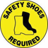 Accuform Slip-Gard Round Floor Signs: Safety Shoes Required -- sf-17-998-333 - Image