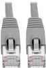 Cat6a 10G-Certified Snagless Shielded STP Network Patch Cable (RJ45 M/M), PoE, Gray, 10 ft. -- N262-010-GY