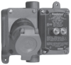 Explosionproof Pin and Sleeve Receptacle with Circuit Breaker -- EFSR-GFI