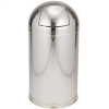 15 Gallon - Stainless Steel - Domed Waste Receptacles -- RUB147 - Image