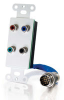 RapidRun® Component Video + S/PDIF Digital Audio Wall Plate - White -- 2212-40739-001