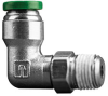 Fisnar 560725 Elbow Push Connector 0.25 in O.D. x 0.125 in NPT Male -- 560725 -Image