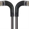 Category 5E Shielded LSZH Right Angle Patch Cable, Right Angle Left/Right Angle Right, Black, 30.0ft -- TRD815SZRA8BLK-30 -Image