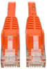 Cat6 Gigabit Snagless Molded UTP Patch Cable (RJ45 M/M), Orange, 6 ft. -- N201-006-OR