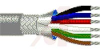 Cable; 6 cond; 22 AWG; Strand (7X30); Foil+braid shielded; Chrome jkt; 100 ft. -- 70005302 -- View Larger Image