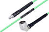 Temperature Conditioned SMA Female to N Male Right Angle Low Loss Cable 48 Inch Length Using PE-P142LL Coax -- PE3M0143-48 -Image