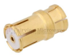 Push-On SMP Female (Jack) to MMBX Plug Snap-On Adapter With Male Center Contact, Gold Plated Beryllium Copper Body, High Temp, 1.25 VSWR -- FMAD1064 - Image