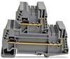Double-level Plug-in Terminal Block: 24-12 AWG, gray 12A, 32/pk -- DN-QEMXDV