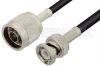 N Male to BNC Male Cable 48 Inch Length Using RG223 Coax -- PE3476-48 -Image