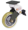 Swivel Plate Caster,CE, ANSI-Certified -- 6JY75