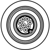 RS-485, 4PR #24 Str TC, PO ins, F/B, LSNH Jkt, 300V, SWA -- 9844LS - Image