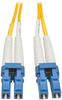Duplex Singlemode 8.3/125 Fiber Patch Cable (LC/LC), 3M (10-ft.) -- N370-03M - Image