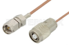 SMA Male to Reverse Polarity TNC Male Cable 12 Inch Length Using RG178 Coax -- PE35242-12 -Image