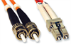 Multimode Duplex Fiber Optic Cable, 62.5/125, 850nm, ST-LC Connectors -- 2ZR6AC-X