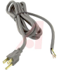POWER SUPPLY CORD, 8', 18AWG 3 CONDUCTOR, PLASTIC INSULATION -- 70116045
