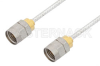 1.85mm Male to 1.85mm Male Cable 18 Inch Length Using PE-SR405FL Coax, LF Solder, RoHS -- PE36525LF-18 -- View Larger Image