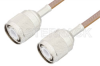 HN Male to HN Male Cable 12 Inch Length Using RG400 Coax, RoHS -- PE33938LF-12 -Image