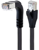 Braid Shielded Category 5e High Flex Right Angle Ethernet Cable, Straight/Right Angle Down, 5.0m -- TRD855SRA1DBL-5M -Image